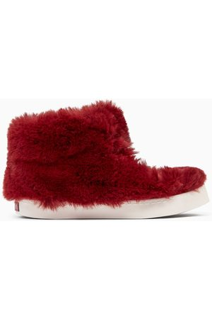 Zara FAUX FUR LINED HIGH-TOP SNEAKERS
