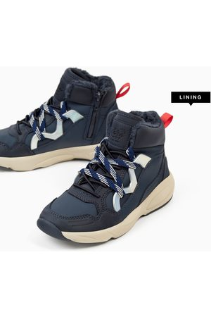 Zara HIGH TOP SKI SNEAKERS WITH LINING