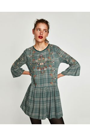 Zara SHORT CHECK DRESS
