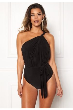 Goddiva Multi Tie Swimsuit Black M