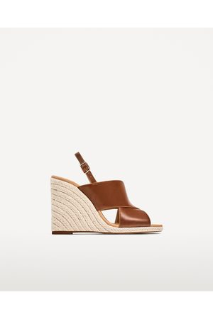 Zara JUTE WEDGES WITH CROSSOVER STRAPS - Available in more colours