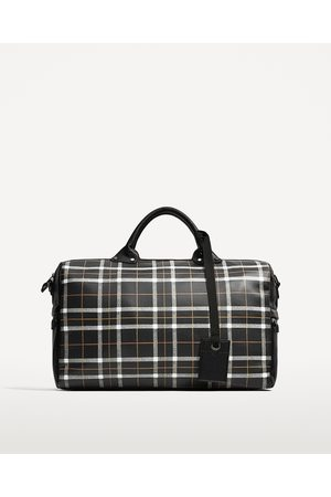 Zara CHECKED BOWLING BAG