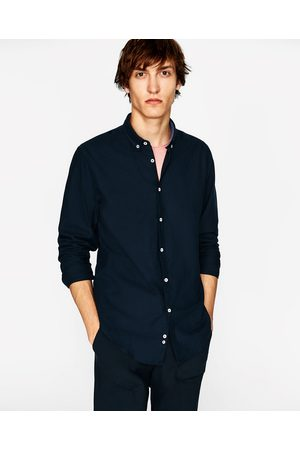 Zara PLAIN OXFORD SHIRT