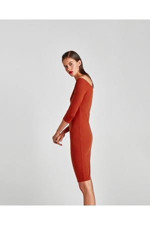 Zara OFF-THE-SHOULDER PONTE DI ROMA DRESS - Available in more colours