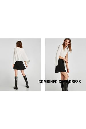 Zara COMBINED CAPE DRESS