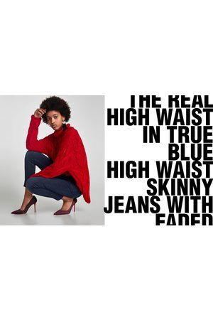 Zara THE HIGH WAIST JEANS IN TRUE