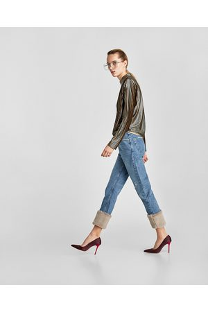 Zara THE REAL VINTAGE HIGH RISE TEXTURED JEANS