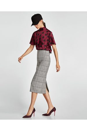 Zara CHECKED SKIRT