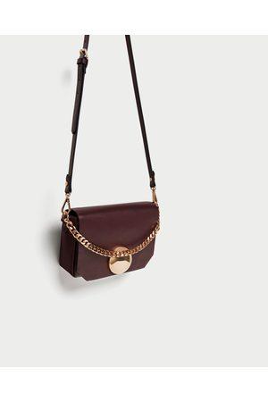 Zara CROSSBODY BAG WITH FASTENER DETAIL