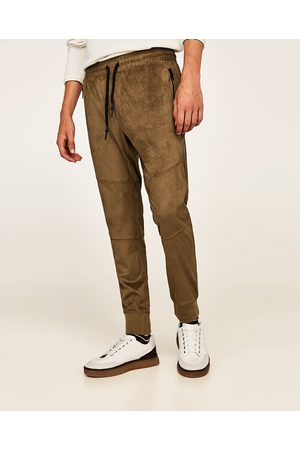Zara FAUX SUEDE TROUSERS - Available in more colours