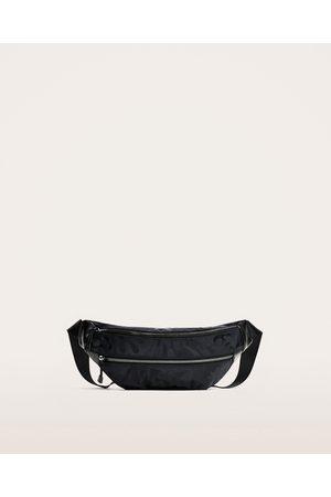 Zara BLUE CAMOUFLAGE BELT BAG