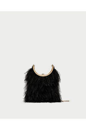 Zara FEATHER CROSSBODY BAG
