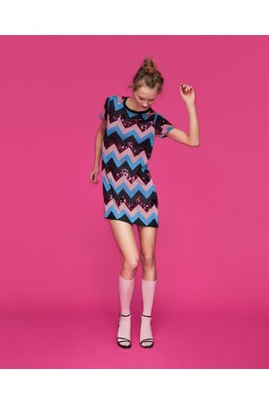 Zara EMBELLISHED KNIT DRESS