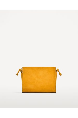 Zara Naiset Olkalaukut - SPLIT SUEDE CROSSBODY BAG - Available in more colours