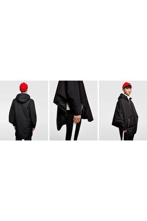 Zara OVERSIZED CAPE WITH HOOD