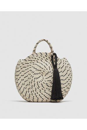 Zara ROUND COTTON BUCKET BAG