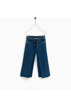 Zara Naiset Culottes-housut - DENIM CULOTTES WITH CORD