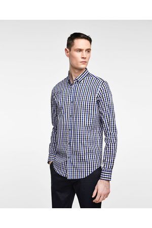 Zara ELASTIC GINGHAM CHECK SHIRT - Available in more colours