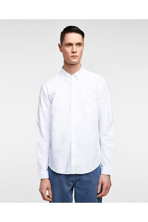 Zara Miehet Bisnes - OXFORD SHIRT WITH ELBOW PATCHES - Available in more colours