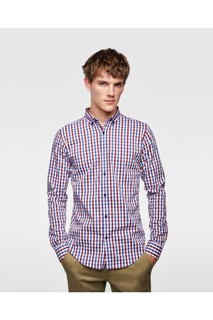 Zara Paitapuserot - ELASTIC GINGHAM CHECK SHIRT - Available in more colours
