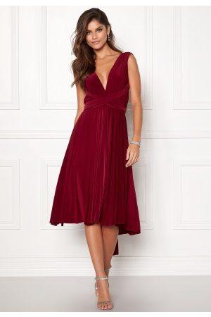 Goddiva Naiset Midimekot - Multi Tie Midi Dress Berry L (UK14)