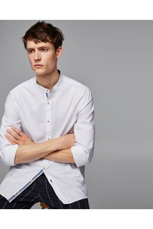 Zara OXFORD SHIRT WITH MANDARIN COLLAR - Available in more colours