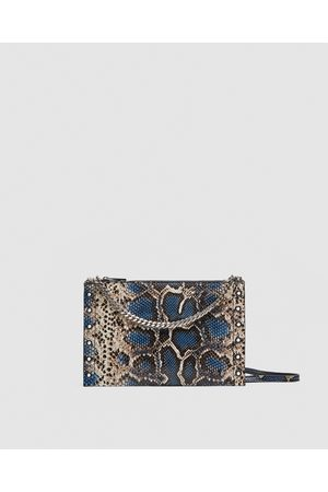 Zara PRINTED LEATHER CROSSBODY-CLUTCH BAG - Available in more colours