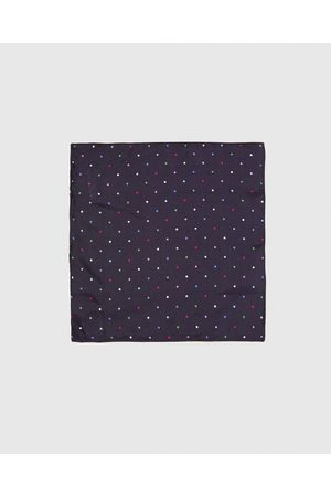 Zara COLOURED POLKA DOT PRINT POCKET SQUARE