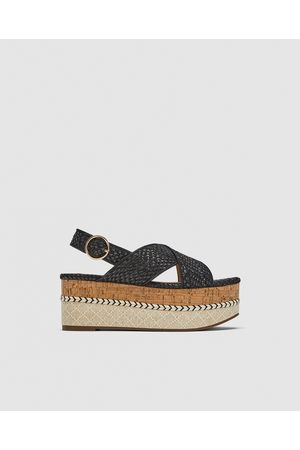 Zara WEDGES WITH CRISS-CROSS STRAPS