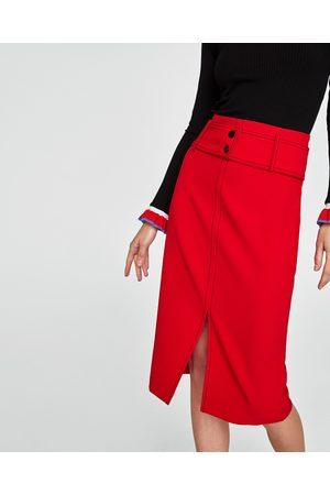 Zara TOPSTITCHED PENCIL SKIRT