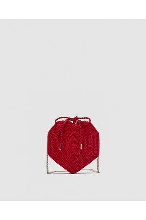 Zara BRAIDED HEART CROSSBODY BAG