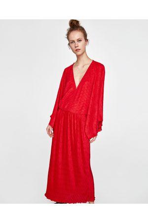 Zara PLEATED KIMONO DRESS