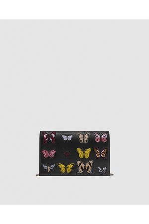 Zara BUTTERFLY CROSSBODY BAG
