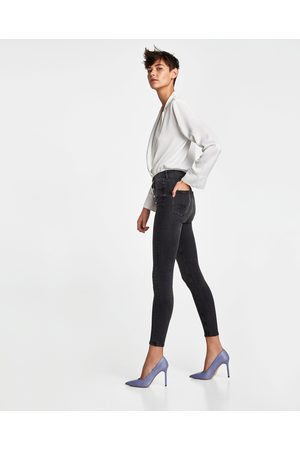Zara JEANS HIGH WAIST BUTTON FLY NICOLE