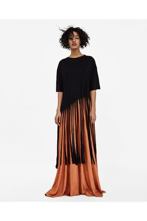 Zara CREASED-EFFECT MAXI SKIRT