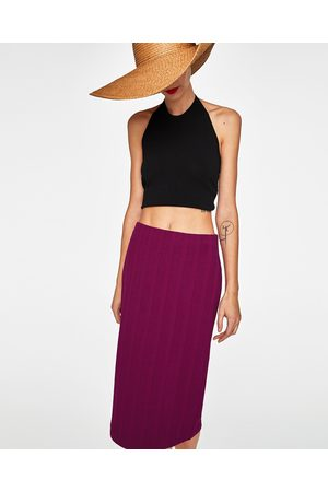 Zara Naiset Kynähameet - RIBBED PENCIL SKIRT - Available in more colours