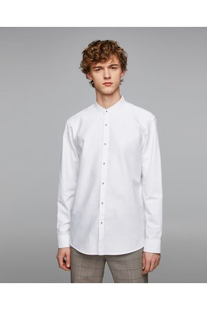 Zara OXFORD SHIRT WITH ELBOW PATCHES
