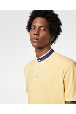 Zara OXFORD POLO SHIRT WITH STAND-UP COLLAR