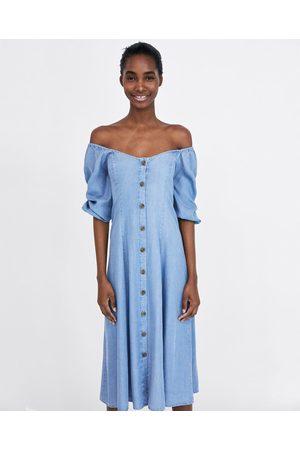 Zara Naiset Olkaimettomat Mekot - OFF-THE-SHOULDER DRESS