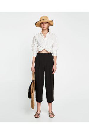 Zara PAPERBAG WAIST CULOTTES