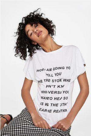 Zara CORSET T-SHIRT WITH SLOGAN