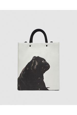 Zara TOTE BAG WITH IMAGE