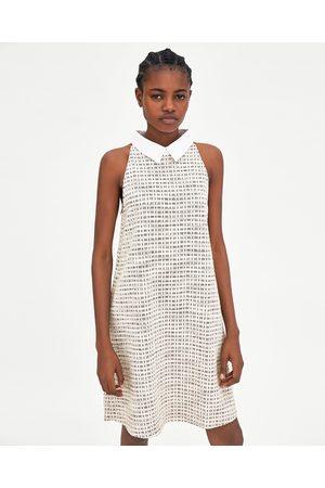 Zara TWEED HALTERNECK DRESS