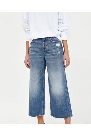 Zara Naiset Culottes-housut - VINTAGE CULOTTE JEANS