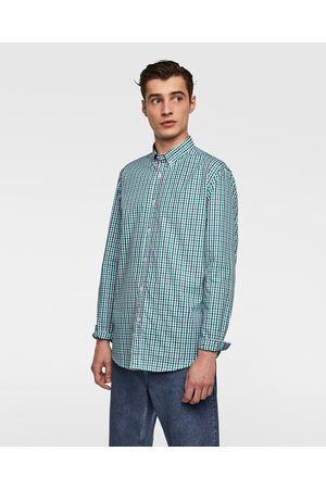Zara TWO-TONE GINGHAM SHIRT