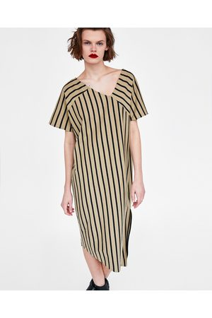 Zara ASYMMETRIC STRIPED DRESS