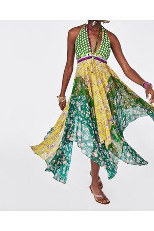 Zara ASYMMETRIC PATCHWORK DRESS