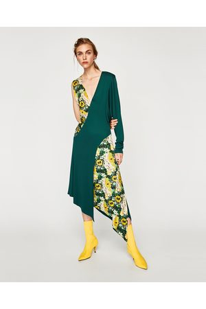 Zara COMBINED ASYMMETRIC DRESS