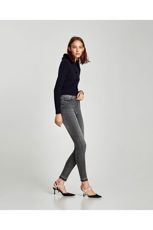 Zara THE HIGH WAIST JEANS WITH BUTTON FLY