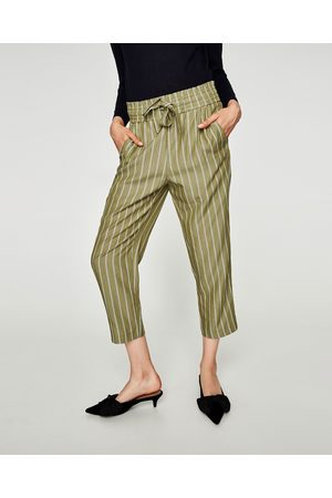 Zara STRIPED CULOTTES WITH BOW